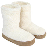 Polar Feet Women's Snugs Slippers in White Berber Pair
