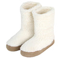 Polar Feet Women's Snugs Slippers in White Berber