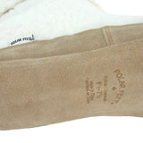 Polar Feet Women's Snugs Slippers in White Berber with real suede soles