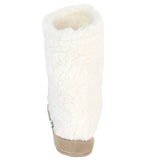Polar Feet Women's Snugs Slippers in White Berber Back View