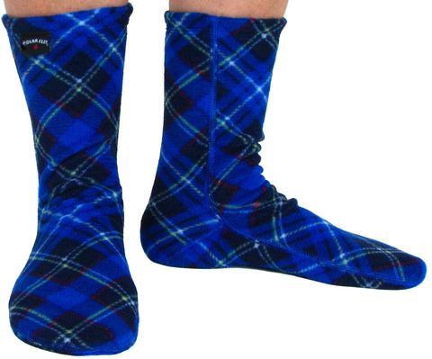 Polar Feet Adult Socks - Blue Argyle