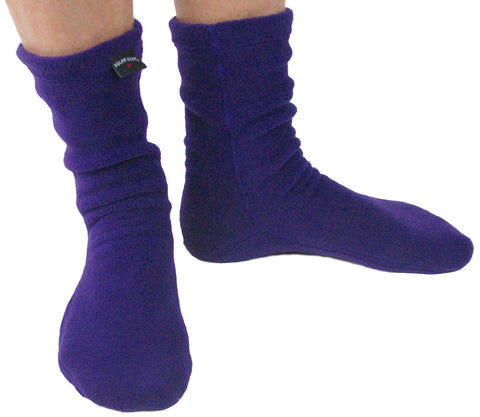 Polar Feet® Fleece Socks - Purple Rain
