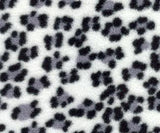 Polar Feet Fleece Socks in Snow Leopard Nonskid Sole v1