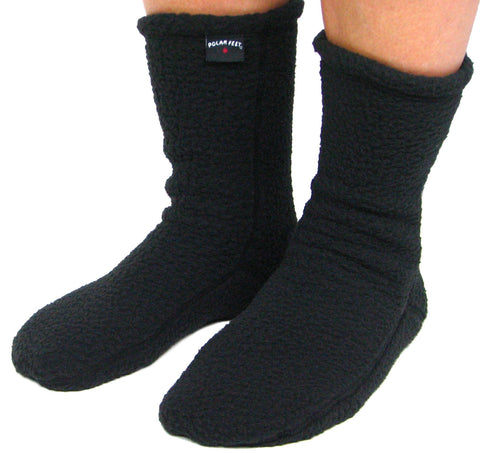Polar Feet® Supersoft Fleece Socks Black