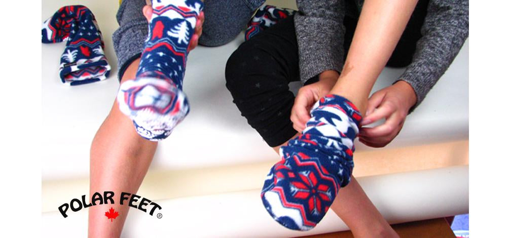 Polar Feet fleece socks for men and women slipper socks