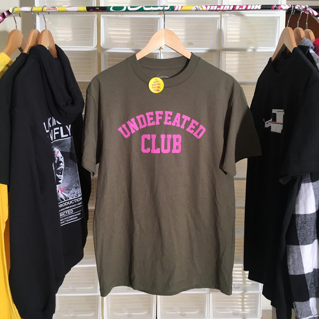 Anti Social Social Club Undefeated Tee Olive Green