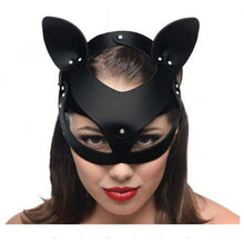 Load image into Gallery viewer, Bad Kitten Leather Cat Mask