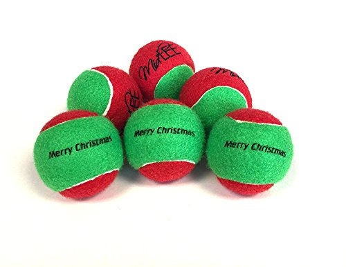 Midlee Merry Christmas Dog Tennis Balls (Regular)