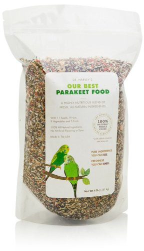 Dr. Harvey'S Our Best Parakeet Blend Natural Food For Parakeets, 4-Pound Bag