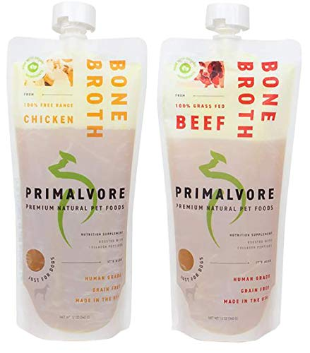 Primalvore Organic Bone Broth for Dogs & Cats (12 Oz)