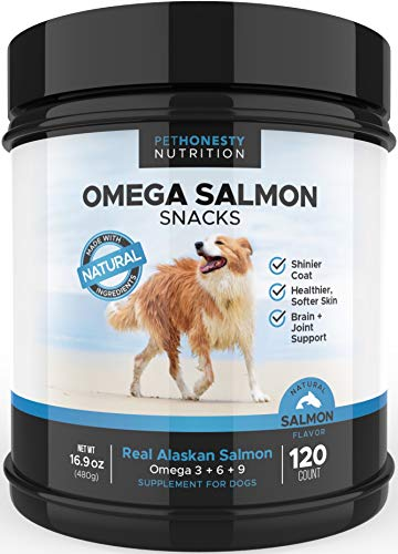 Salmon Oil for Dogs - Omega 3 Fish Oil For Dogs - 120 Count Dog Fish Oil