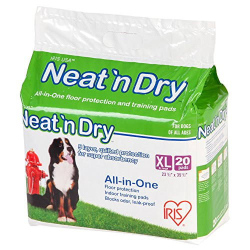 "IRIS Neat 'n Dry Premium Pet Training Pads, Extra Large, 23.5"" x 35.5"""