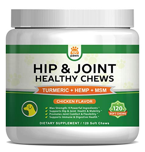 Hip & Joint Supplement for Dogs - Hemp Oil Infused Soft Chews