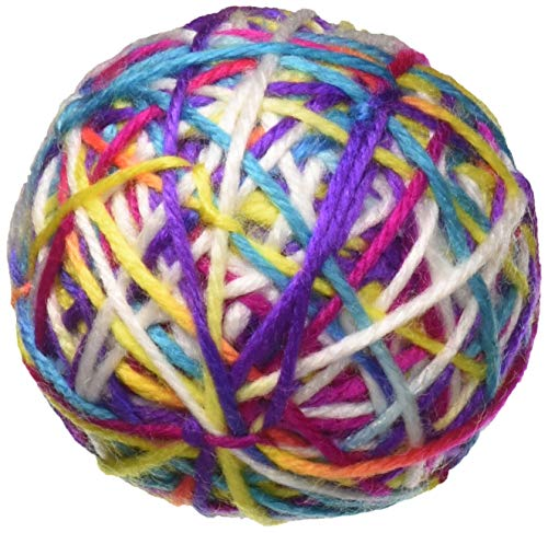 Pet Craft Supply Yowlin' Yarn - Multi Color Yarn Balls with Rattle Cat Toys