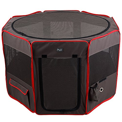 Petsfit Pop Up Dog Playpen,Removable Zipper Top and Bottom