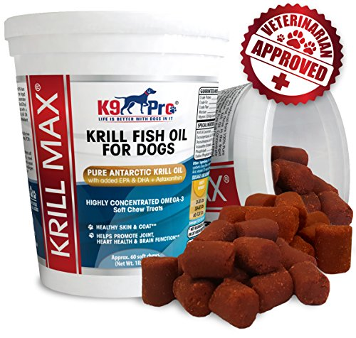 Krill MAX Fish Oil for Dogs - Soft Moist Tasty 350mg Omega 3 for Dogs