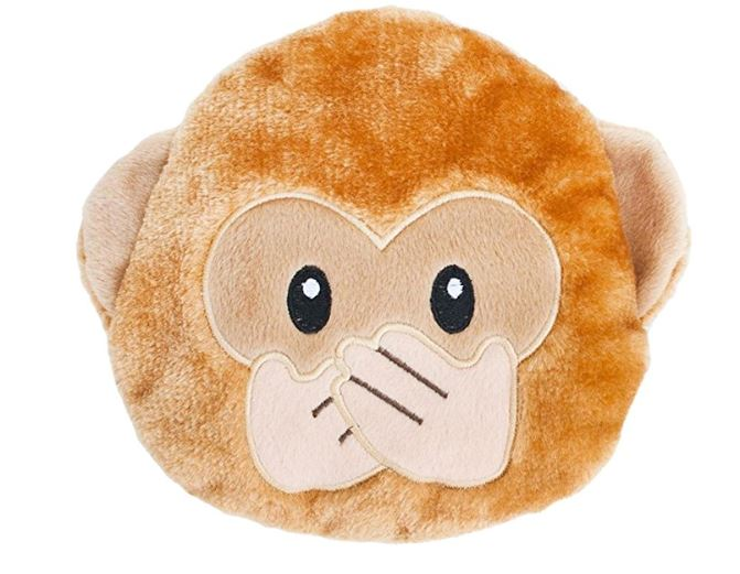 ZippyPaws Squeakie Emojiz Squeaky Plush Dog Toy
