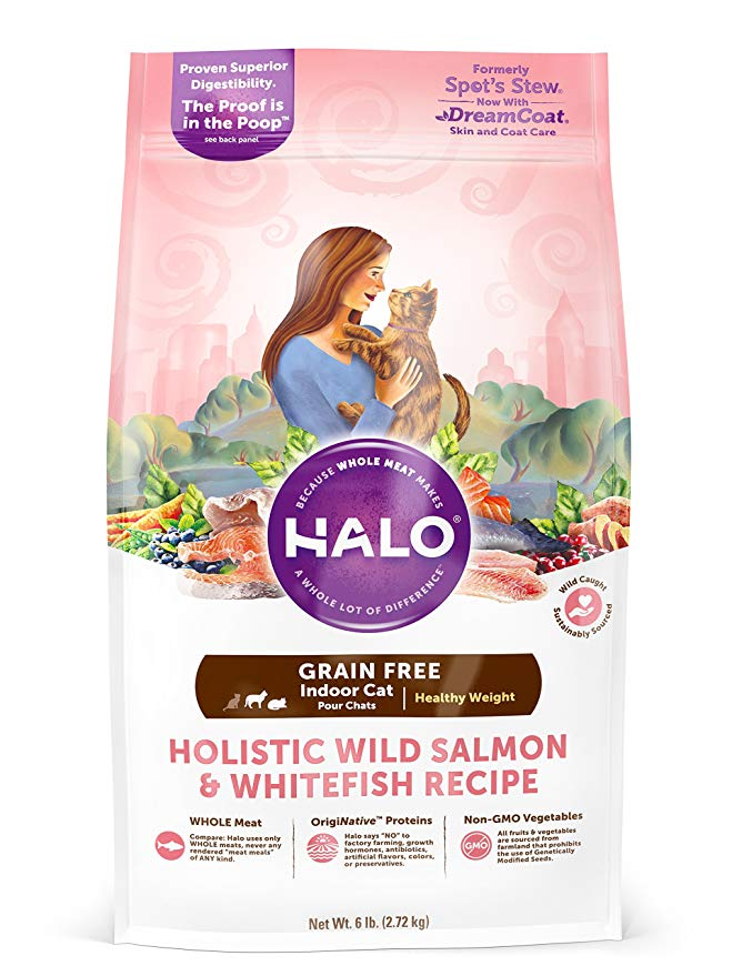 Halo Holistic Grain Free Natural Dry Cat Food For Indoor Adult Cats