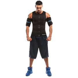 men's body slimming vest and arm shapers