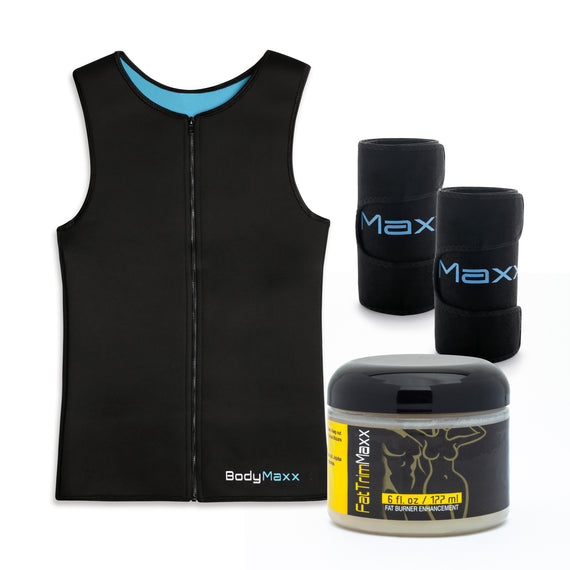 Mens Vest, Arm Slimmers and Fat Trim Cream