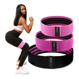 booty fitness bands. exercise bands that will help you get a bigger butt. 3 band set.