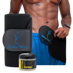 Men's Waist Slimmer Sweat Belt & Fat Trim Cream