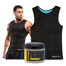 men's body slimming vest and fat burning cream