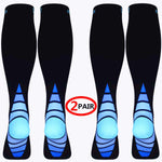 2 Pairs Long Compression Socks