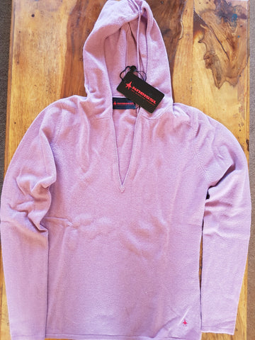 Kneissl Ladies Cashmere Hoody Size 36/10 Violet, Last One!