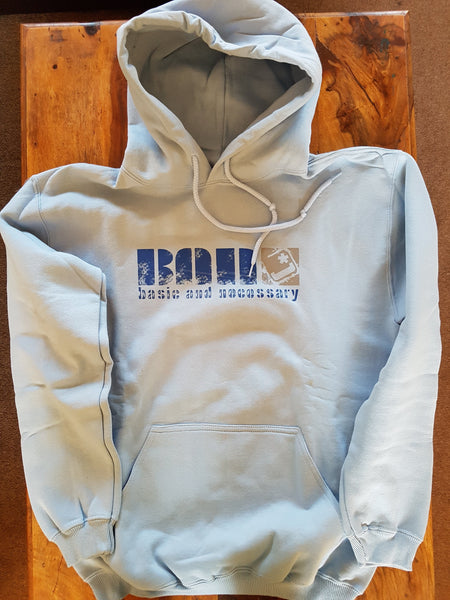 Fundamental Rare B.A.N. Light Blue Medium Hoody.