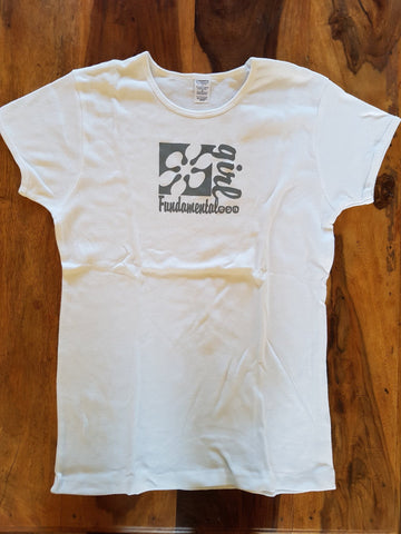 "Fundamental Girls T Shirt ""Limited Edition"" B.A.N. Large White"