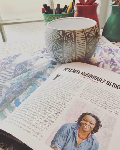 Print Maker Book by UpperCase Magazine featuring Yetunde Rodriguez Design