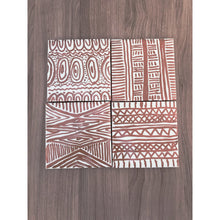 Load image into Gallery viewer, Set of 4 Copper African inspired Ceramic Tile Coasters - yrdsgn2
