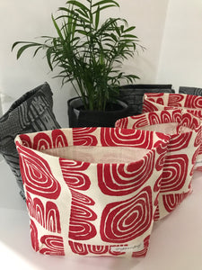 Mini Fabric Bucket/ Plant Pot/Cover -Multiple Prints/Colors - yrdsgn2