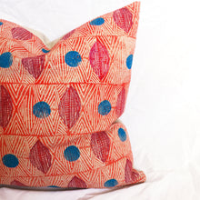 Load image into Gallery viewer, Tribal Marks Blue Dots Pillow Cover