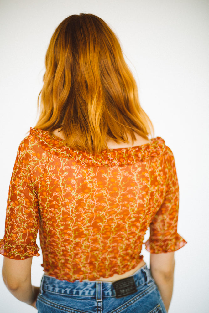 Top naranja transparente