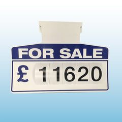 Clip-in Visor Pricing Displays - standard stock options