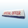 Car Topper Unit with Interchangeable Slogans - standard stock options