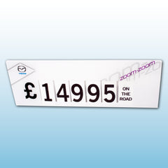 Bonnet Stand Magnetic fitted price maker - Calender Style Flip over style numbers
