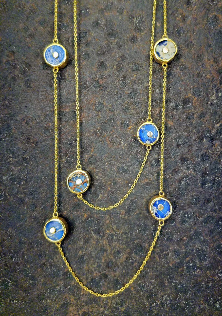 JASPER GOLD NECKLACE