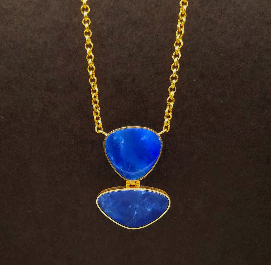 AUSTRALIAN OPAL GOLD NECKLACE