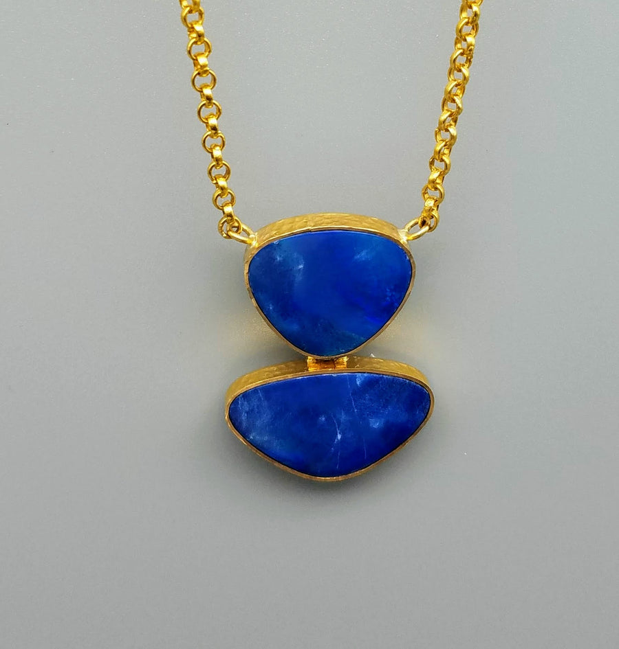AUSTRALIAN OPAL GOLD NECKLACE SONIA TONKIN