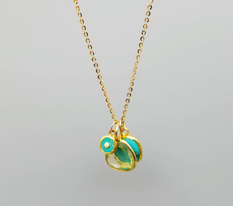 MIX GEMS GOLD NECKLACE SONIA TONKIN
