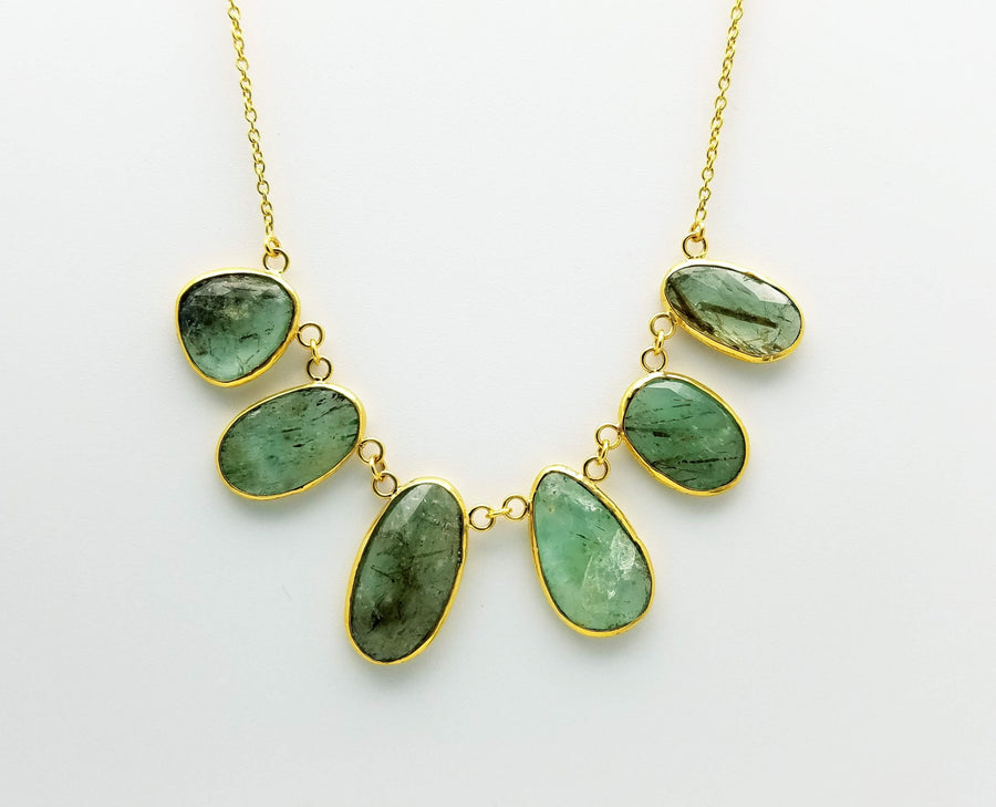 GREEN BERYL GOLD NECKLACE SONIA TONKIN