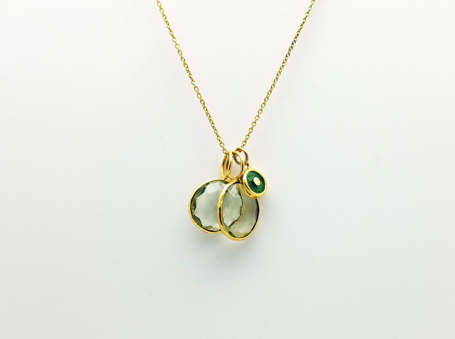 PREHNITE  GOLD NECKLACE SONIA TONKIN