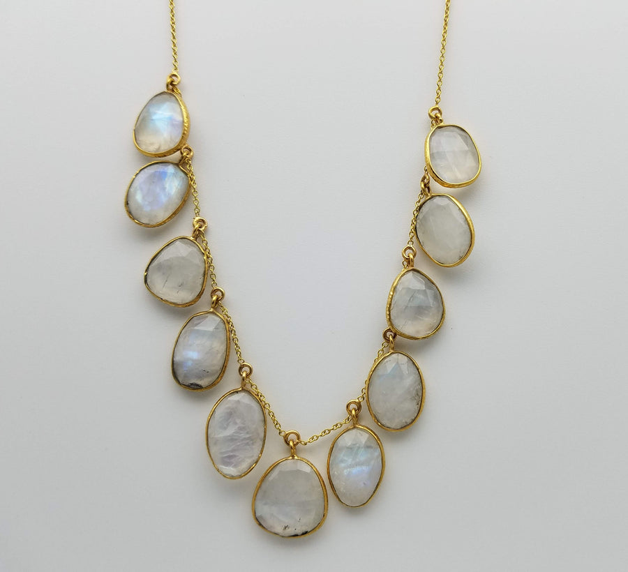 MULTI MOONSTONE GOLD NECKLACE SONIA TONKIN