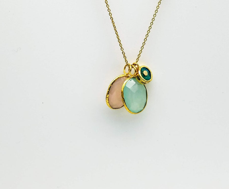 CHALCEDONY GOLD NECKLACE SONIA TONKIN