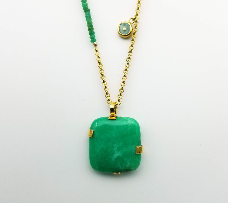 CHRYSOPRASE GOLD NECKLACE SONIA TONKIN