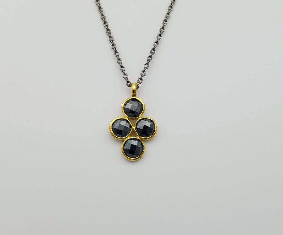 PYRITE MIXED METALS NECKLACE