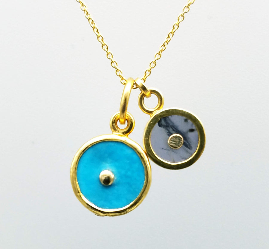DOS SOL SIGNATURE GOLD NECKLACE